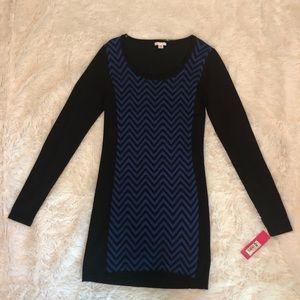 NWT Xhilaration Chevron Print Sweater Dress Size M